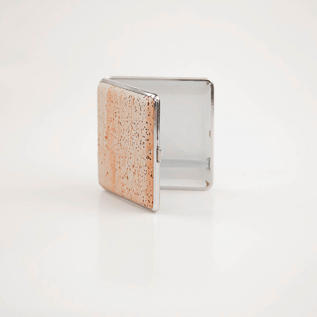 Cigarette Case of Cork and Metal