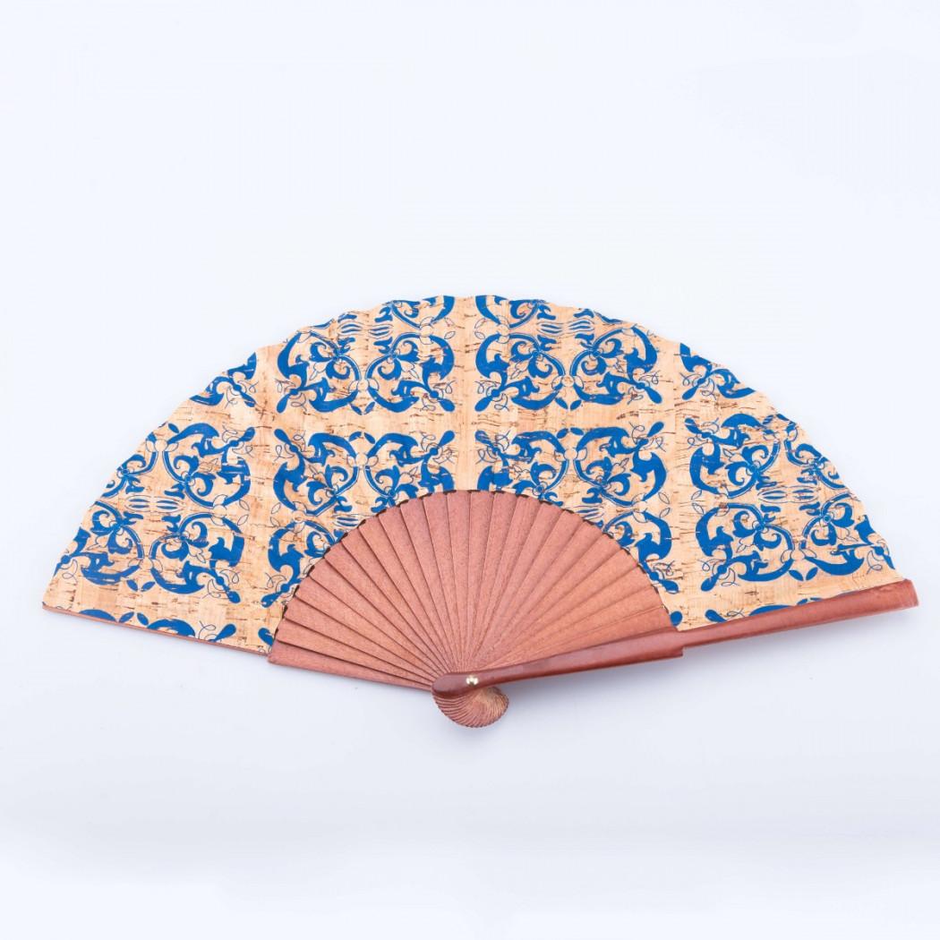 Cork Fan with Blue Detail