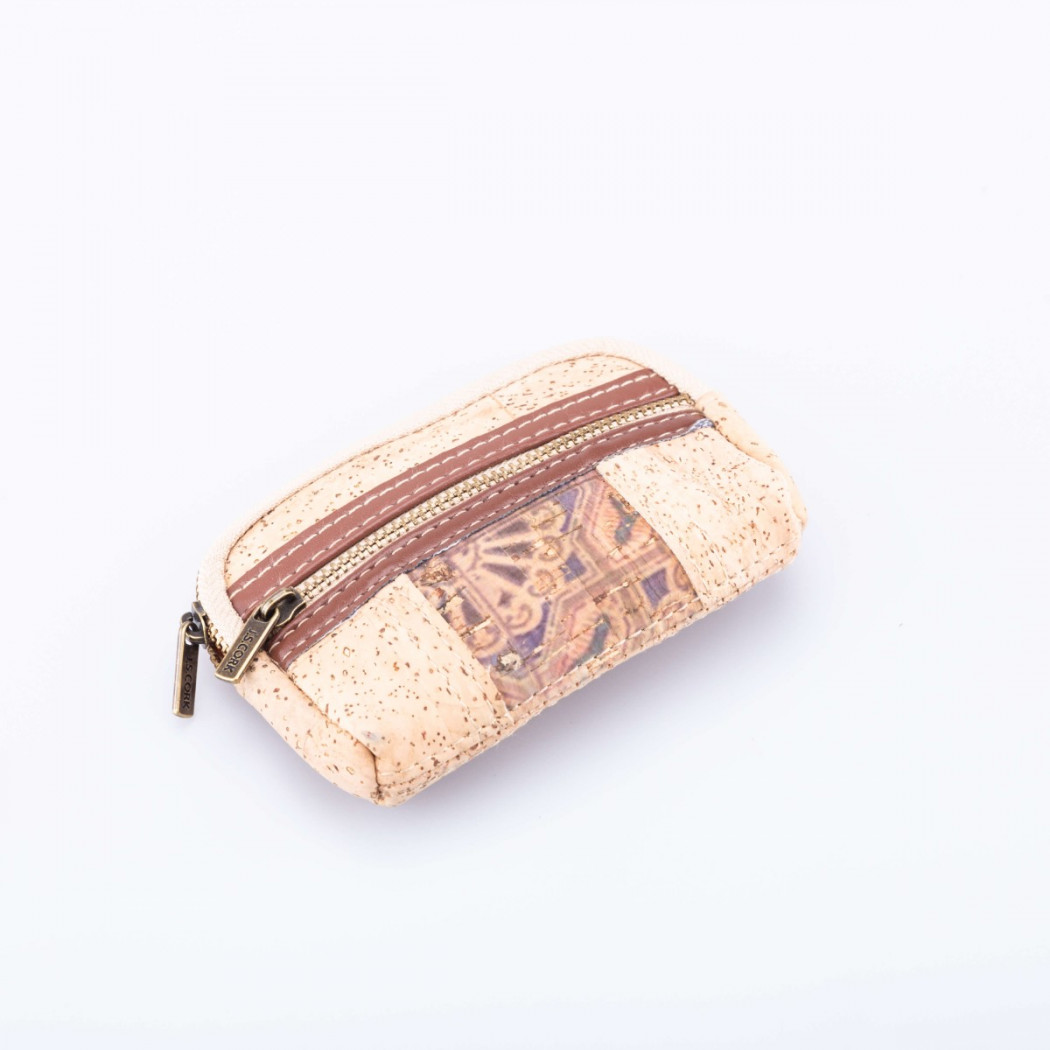 Small Cork Case with Zipper