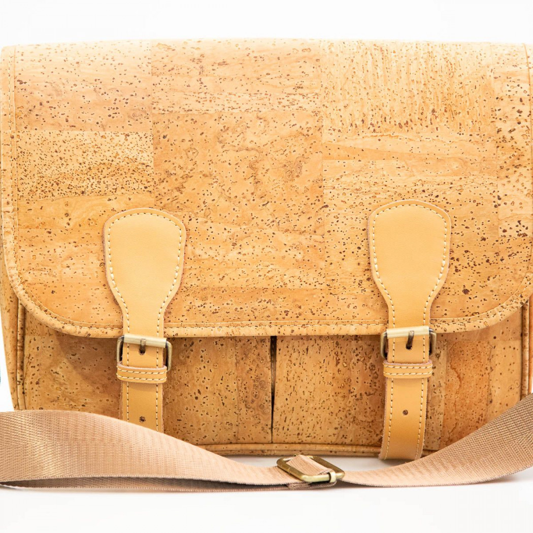 Double Buckle Cork Bag