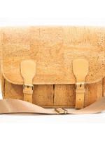 Double Buckle Cork Bag