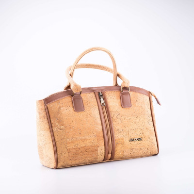 Cork Handbag with Zipper