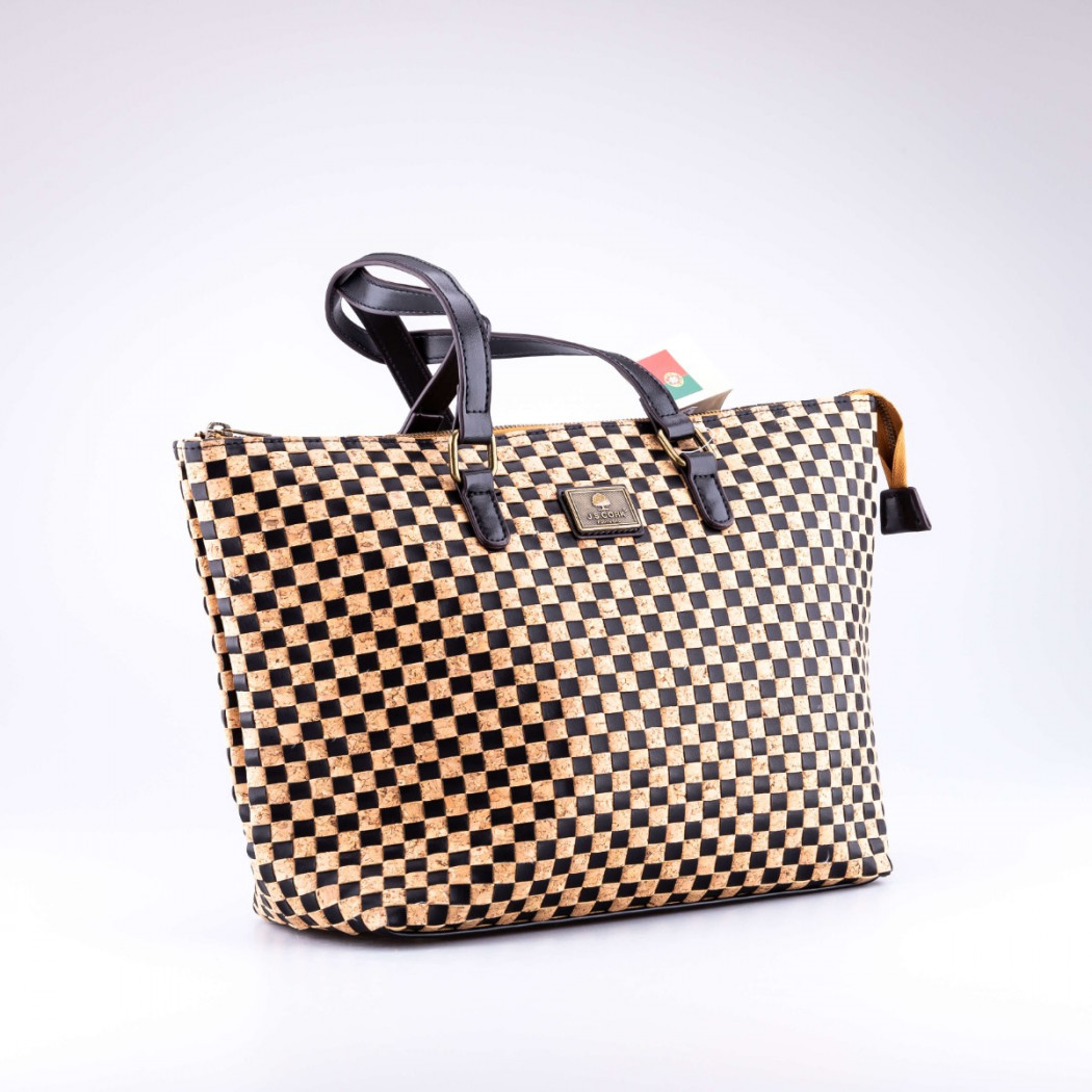 Chess Cork Tote Bag