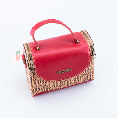 Cork and Leather Handbag