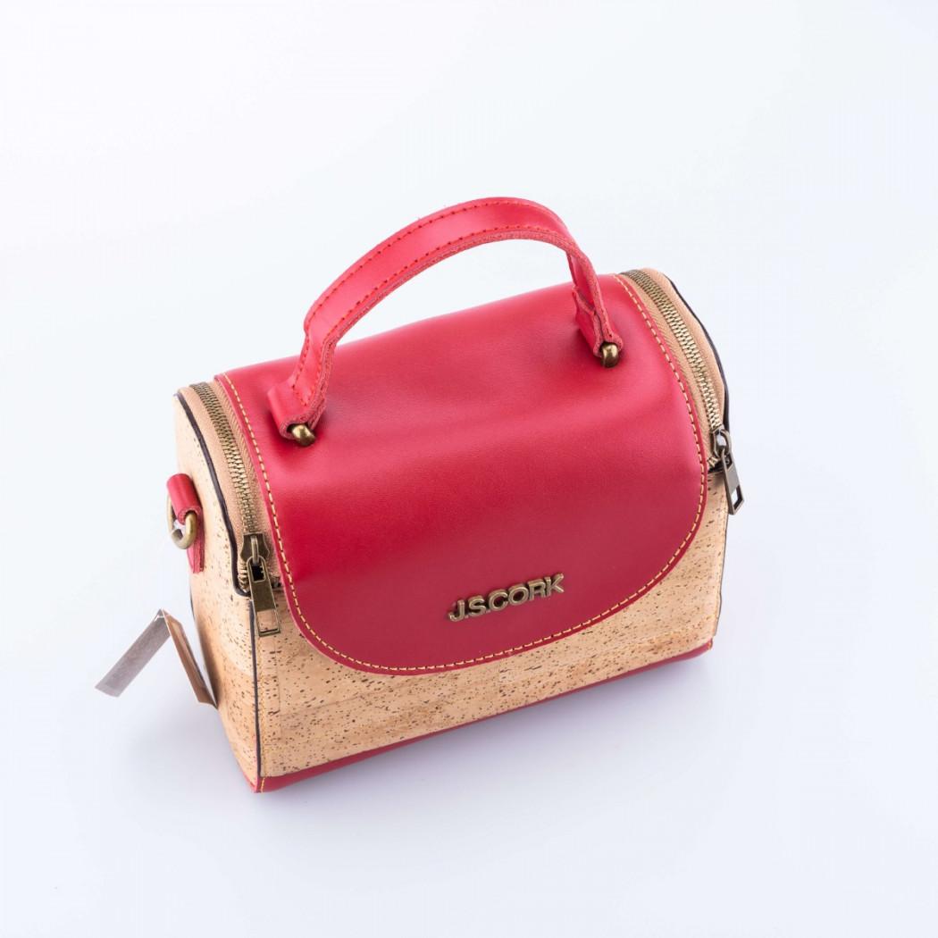Cork and Leather Handbag