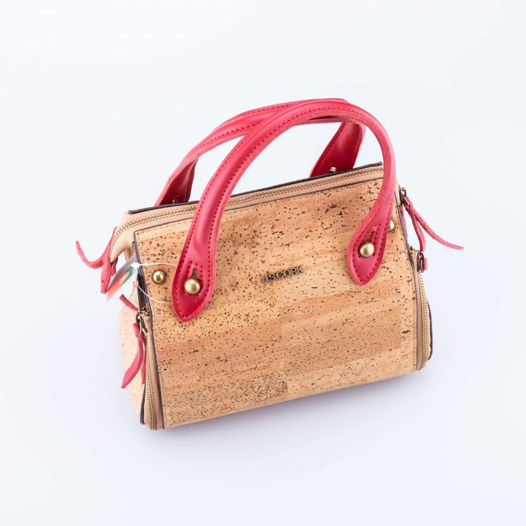 Cork Handbag Red Straps