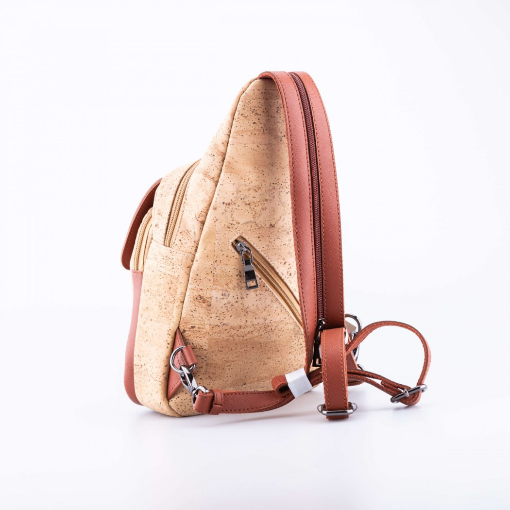 Cork Cross Zip Backpack