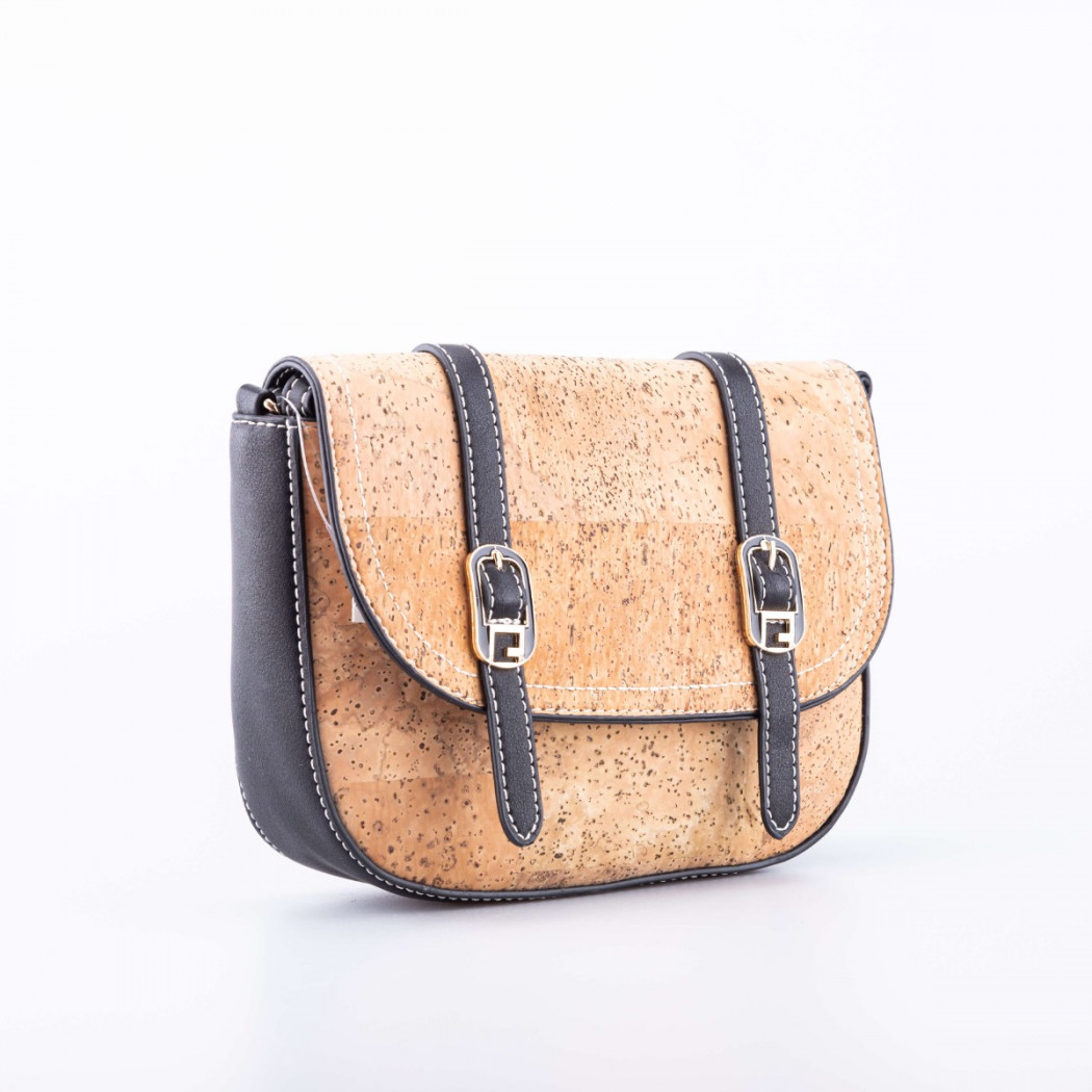 Cork Bag with Double Buckle