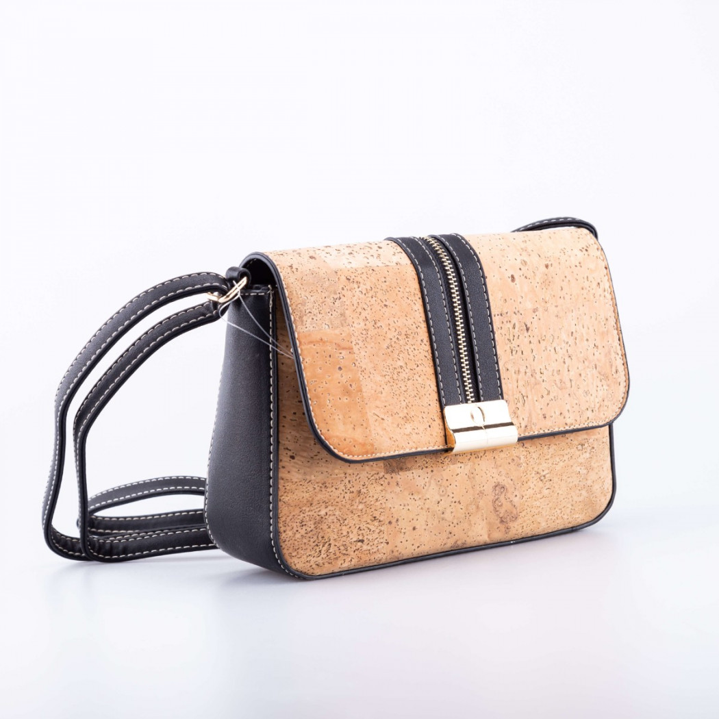 Cork Bag with Zipper