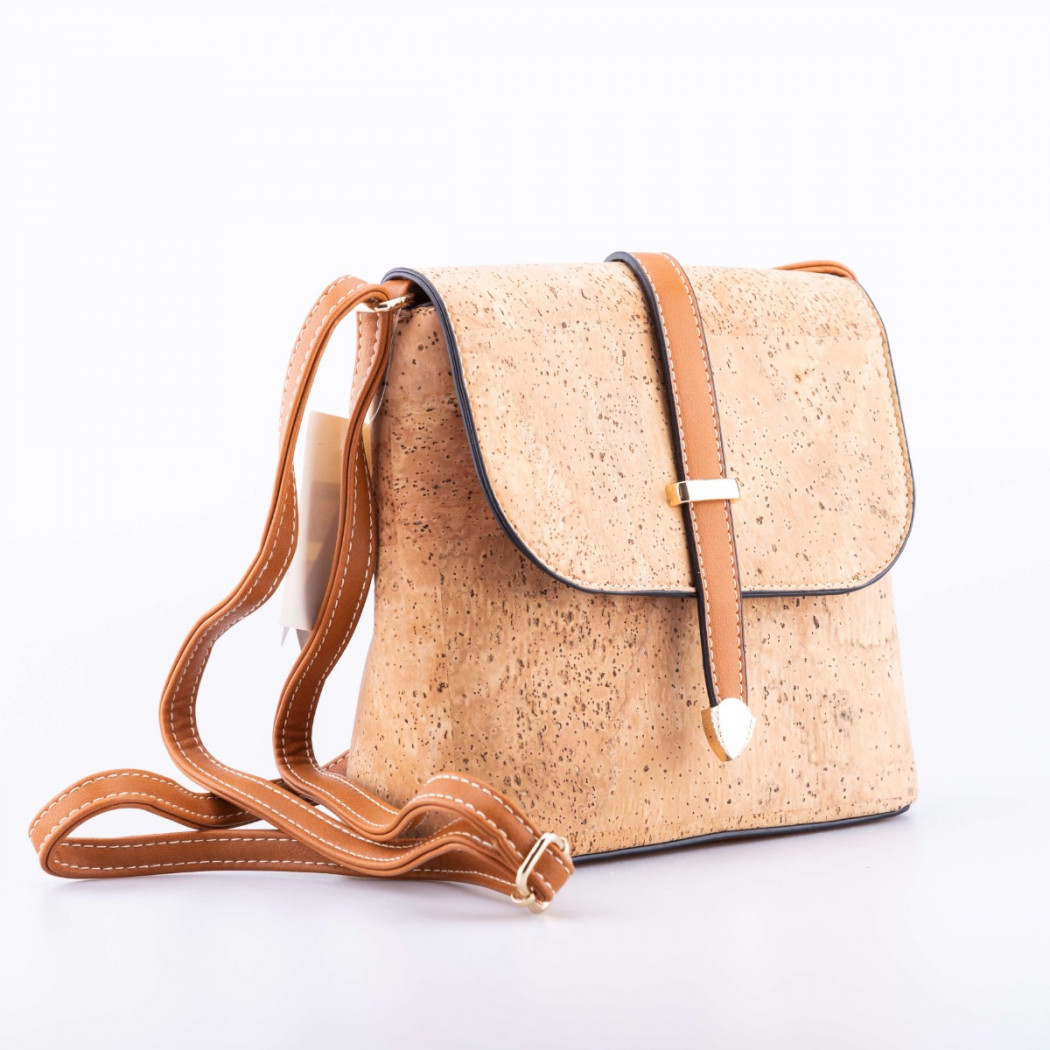 Cork Bag with Ribbon