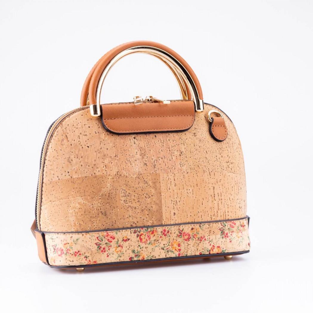 Flower Pattern Cork Bag