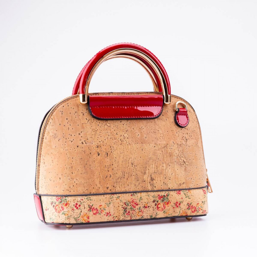 Flower Pattern Cork Bag