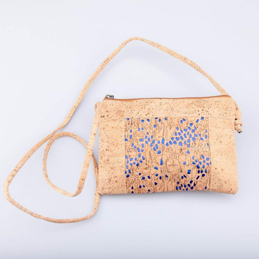 Cork Bag Blue Dots
