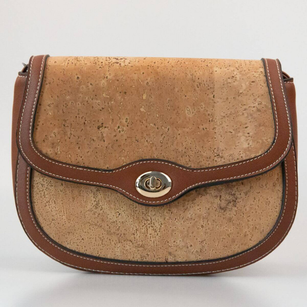 Bag with leather details