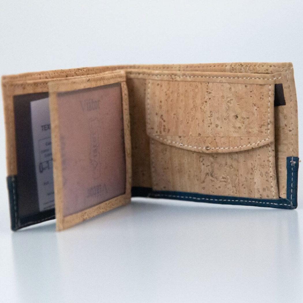 Wallet with blue detail
