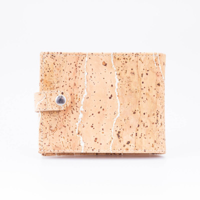 Cork Wallet with Button