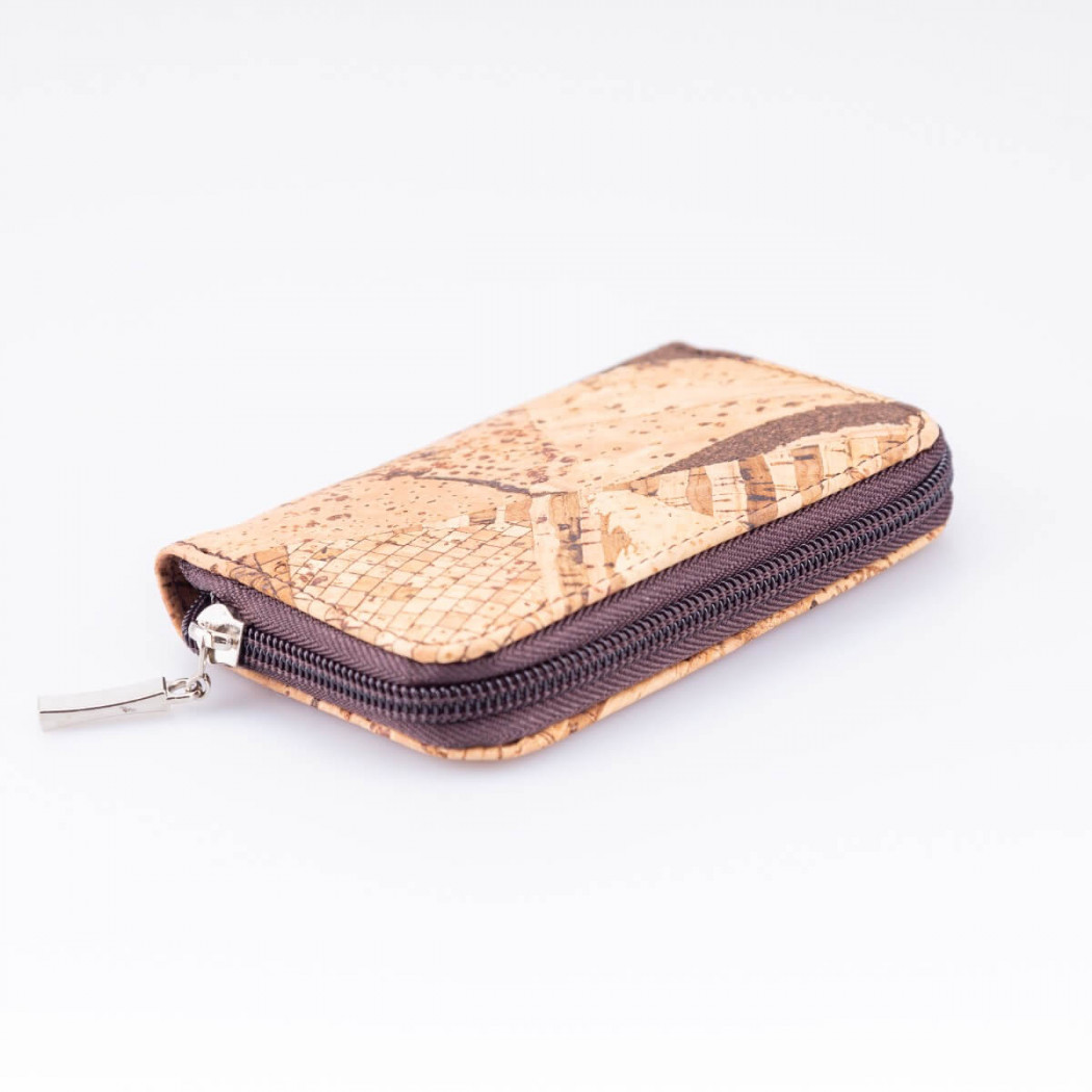Cork Wallet with Zipper