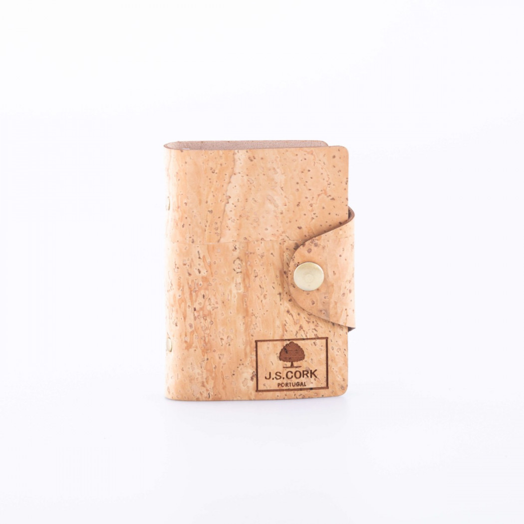 Cork Card Holder Wallet with Plastic