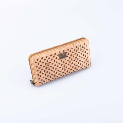 Cork Wallet Laser Detail