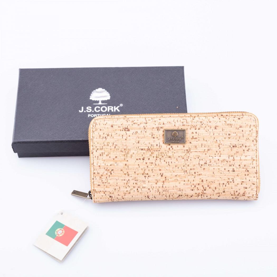 Cork Wallet with Zipper