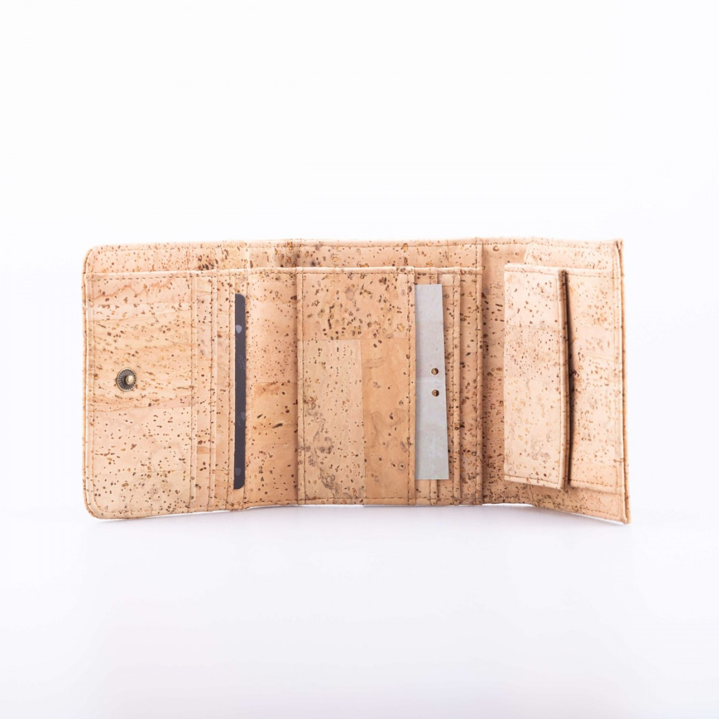 Cork Wallet Tile With Button